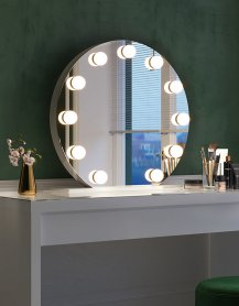 Miroir de maquillage, visage, Hollywood - Rita